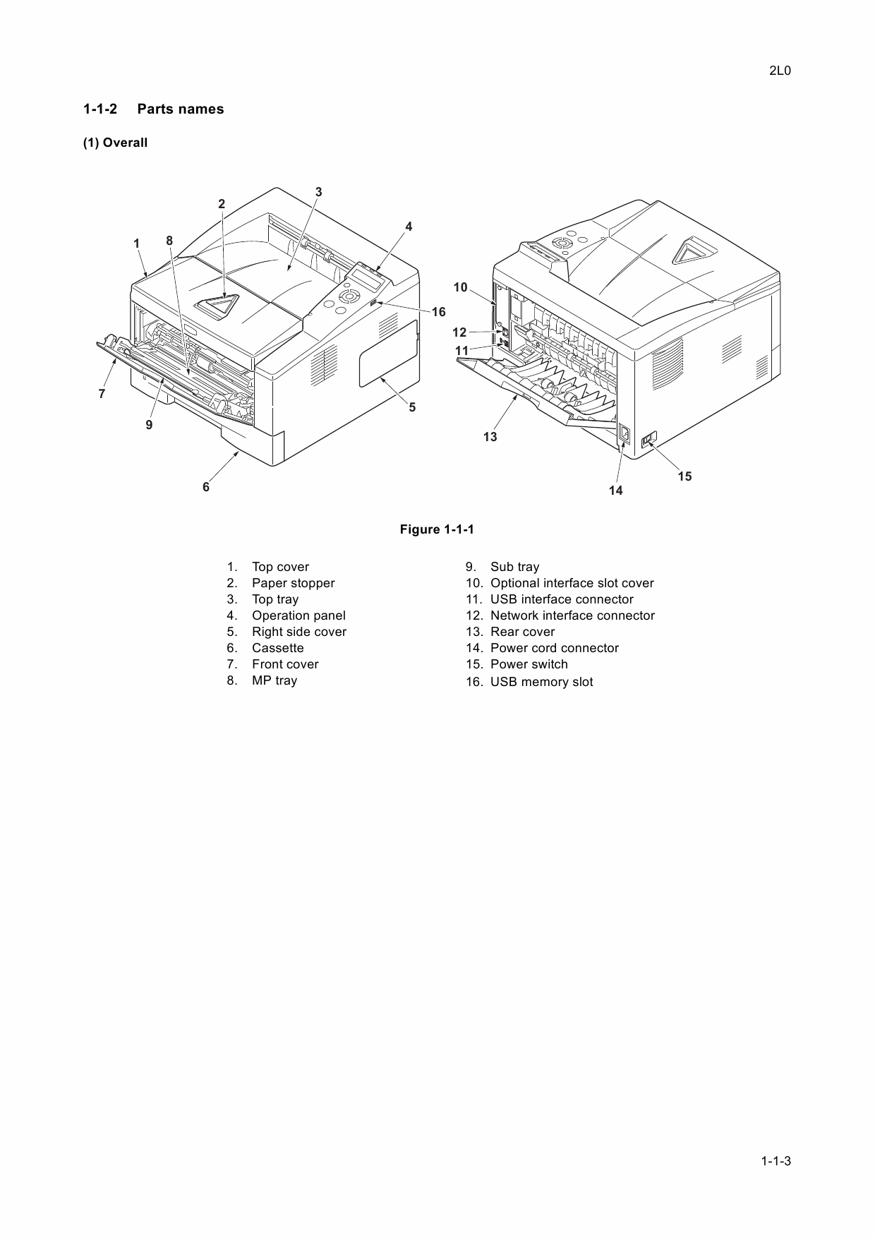 KYOCERA LaserPrinter FS-1370DN PF-100 Parts and Service Manual